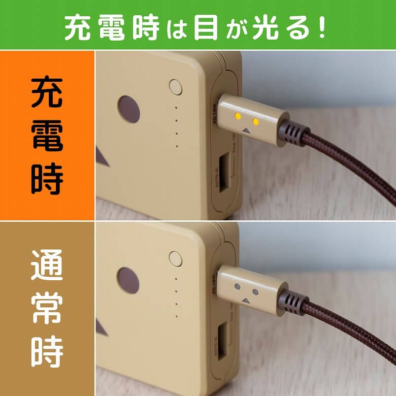 cheero DANBOARD USB-C Cable with Lightning 目が光る