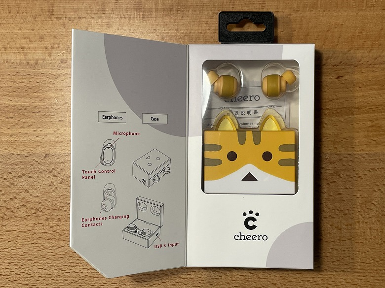cheero nyanboard Wireless Earphones Bluetooth 5.2 外箱扉
