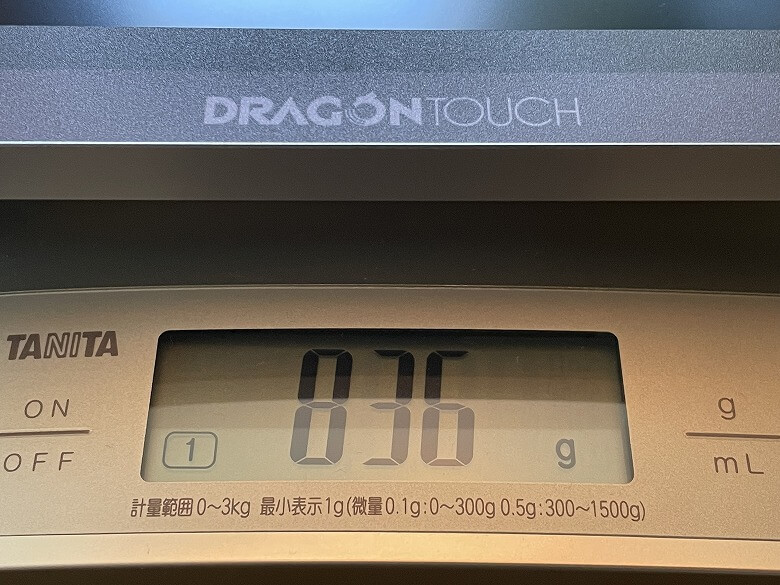 Dragon Touch S1 Pro 重さ