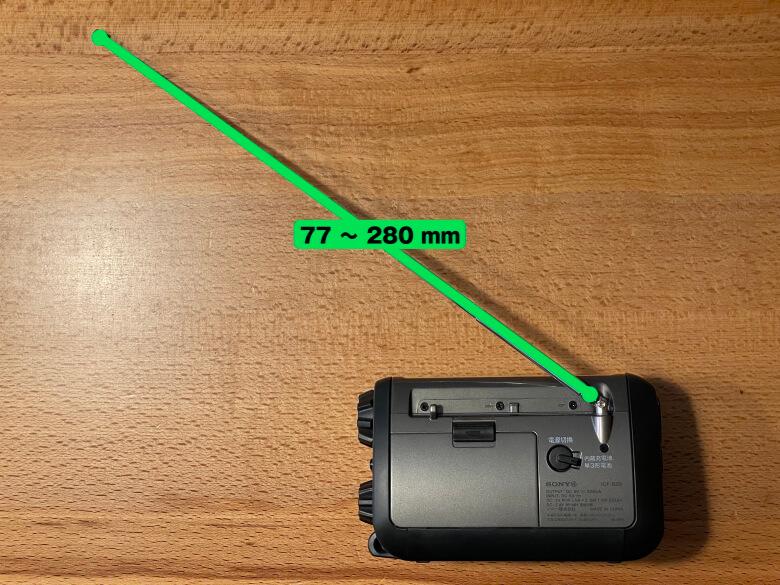 SONY ICF-B99 アンテナの長さ
