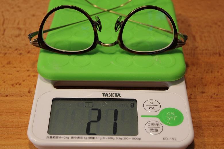 金子眼鏡 KJ-25 重さ