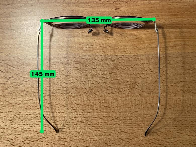 金子眼鏡 KJ-25 サイズ