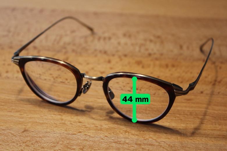 金子眼鏡 KJ-25 高さ