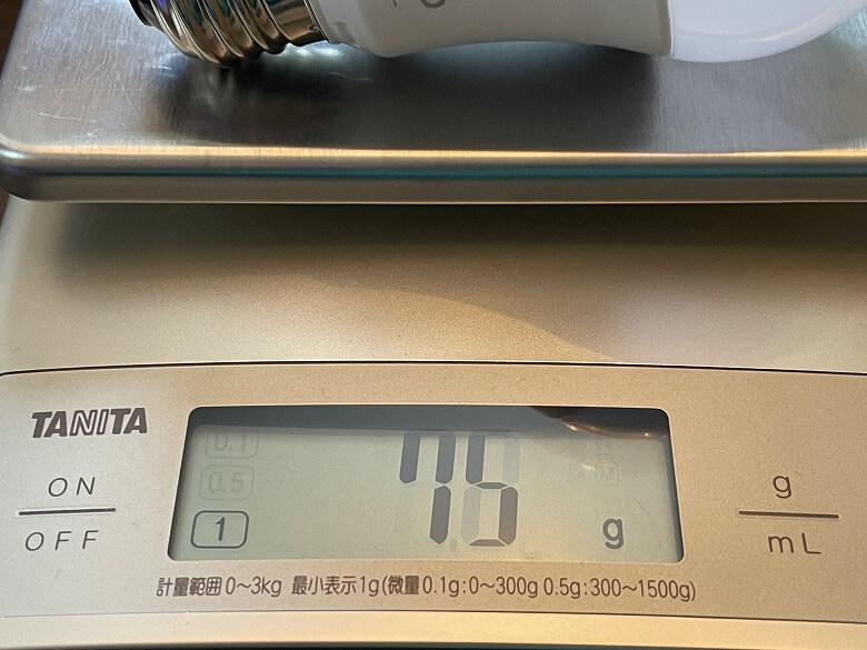 TP-Link Tapo L530E 重さ