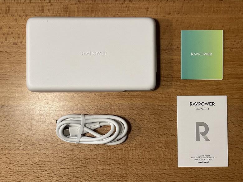 RAVPower RP-PB232 同梱物