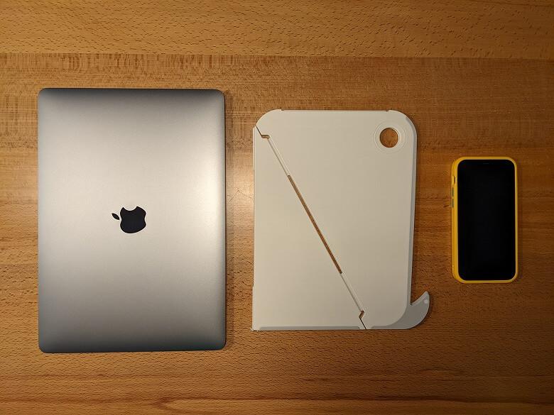 Oripura ラップトップスタンド スマホ、ノートPCと比較