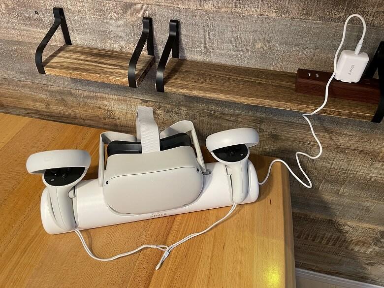 Anker Charging Dock for Oculus Quest 2 充電開始