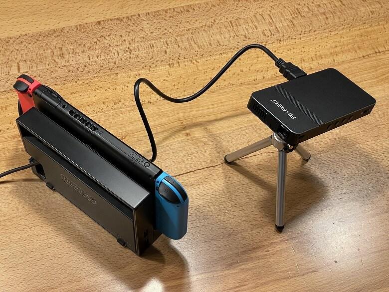 AKASO ミニビデオプロジェクター Nintendo Switch