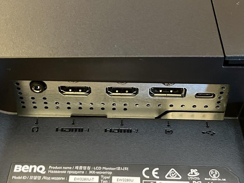 BenQ EW3280U 入力ポート