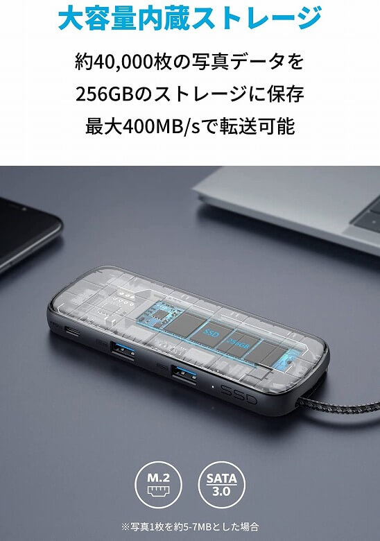 Anker PowerExpand 4-in-1 USB-C SSDハブ 大容量内蔵ストレージ