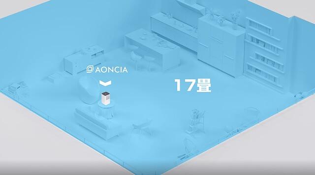 AONCIA 気化式加湿器 適用面積