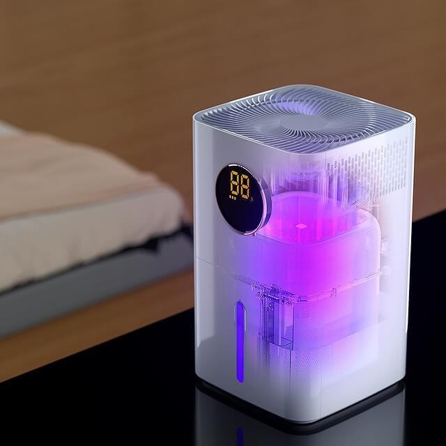 AONCIA 気化式加湿器 UV-Cライト