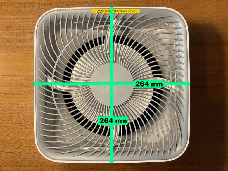 AONCIA 気化式加湿器 サイズ