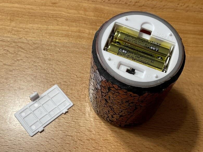 HONONARI LEDキャンドルライト Stained glass 電池カバー