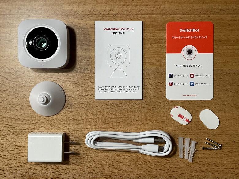 SwitchBot屋内カメラ 同梱物