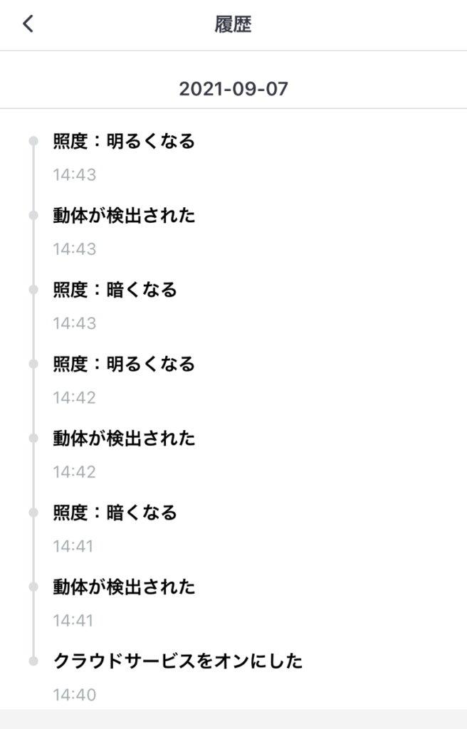SwitchBot人感センサー 履歴