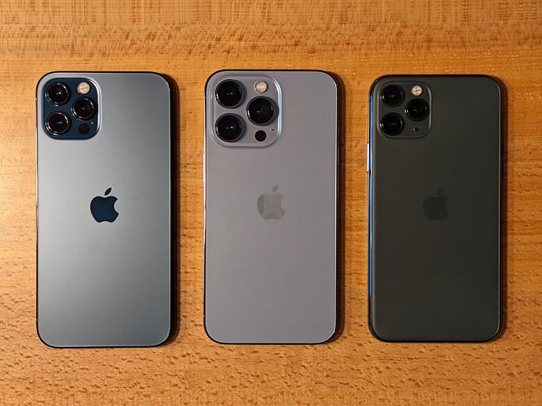 iPhone 13 Pro 背面比較