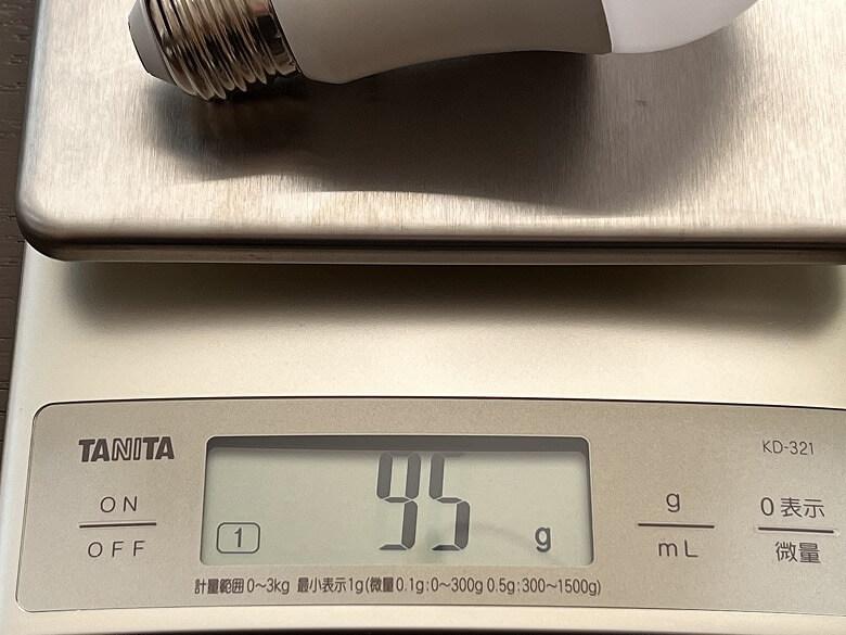 SwitchBotスマート電球 重さ