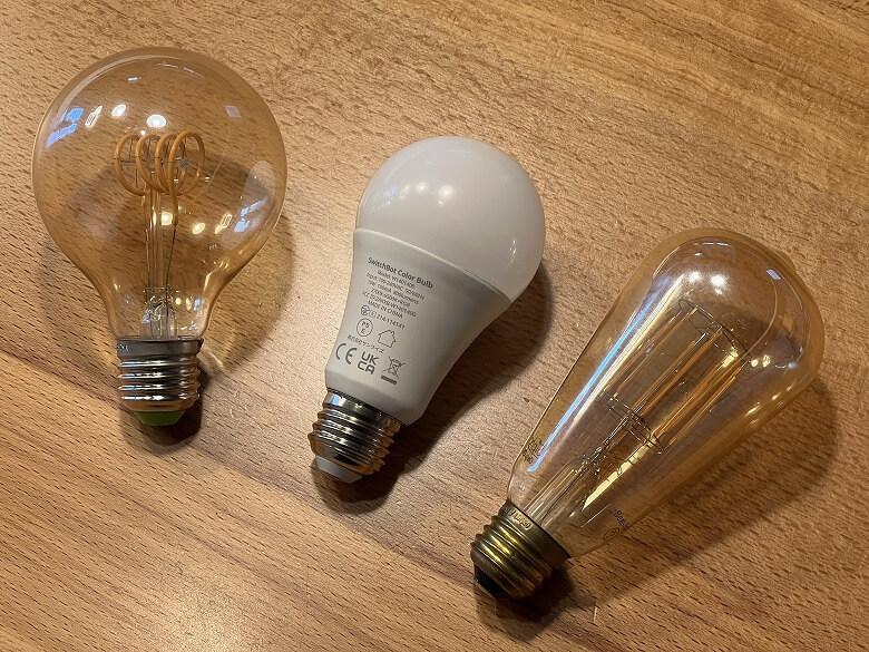 SwitchBotスマート電球 エジソンバルブと比較