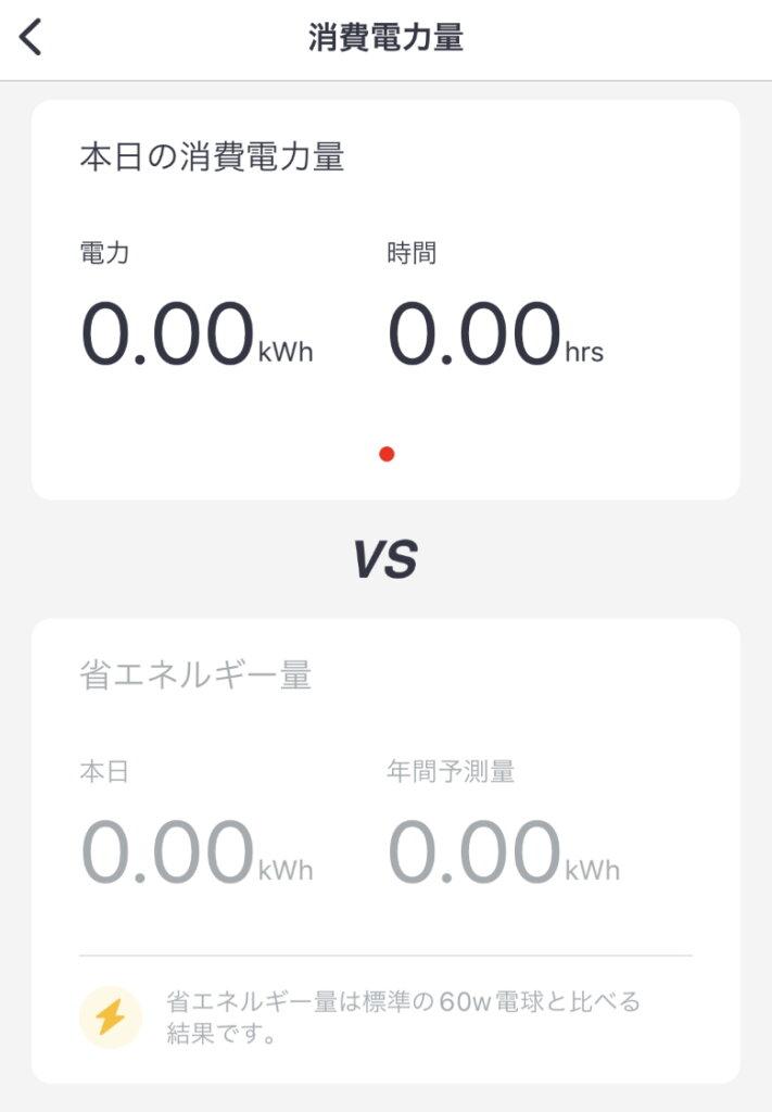 SwitchBotスマート電球 消費電力量
