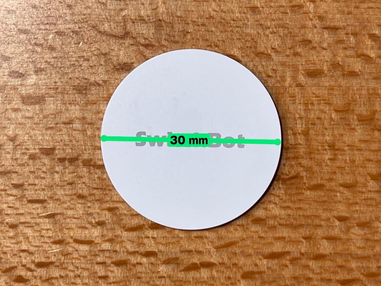SwitchBotタグ 直径
