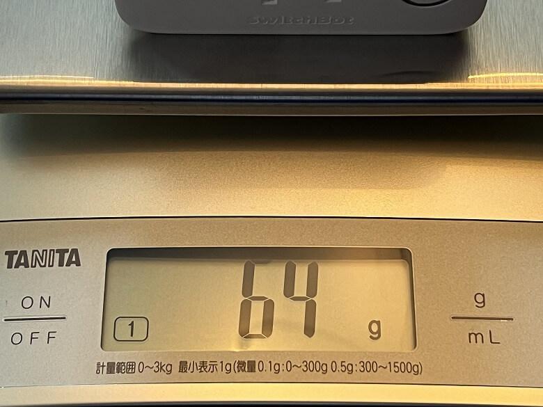 SwitchBotプラグ 重さ
