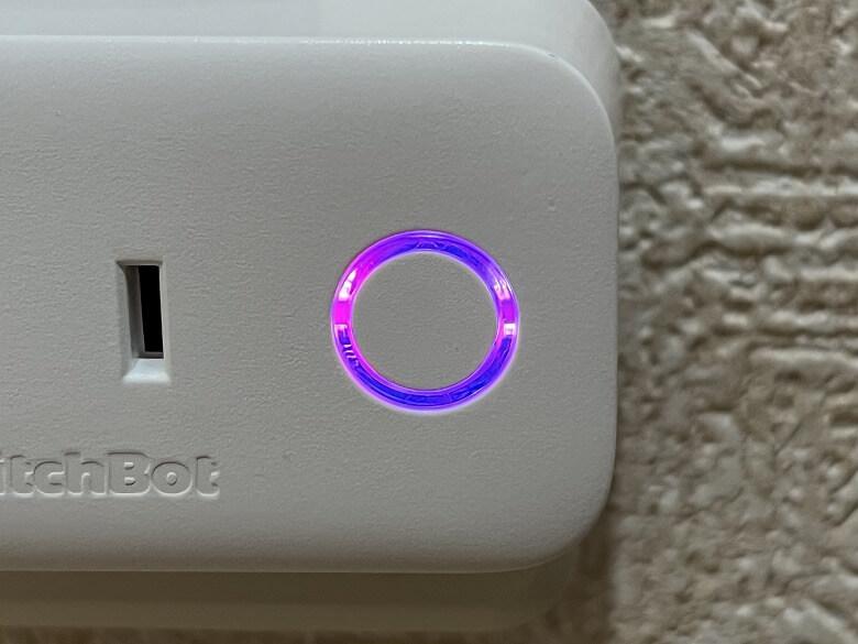 SwitchBotプラグ 電源ボタン