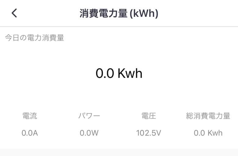 SwitchBotプラグ 消費電力量